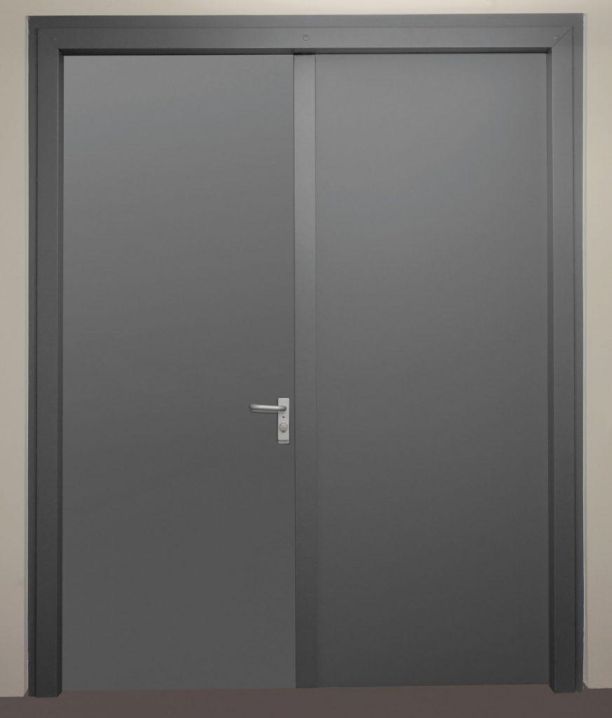 """Zweiflügelige einbruchhemmende Stahldrehtür Schwarze """"DX 52-2-Tür-WK2"""""""