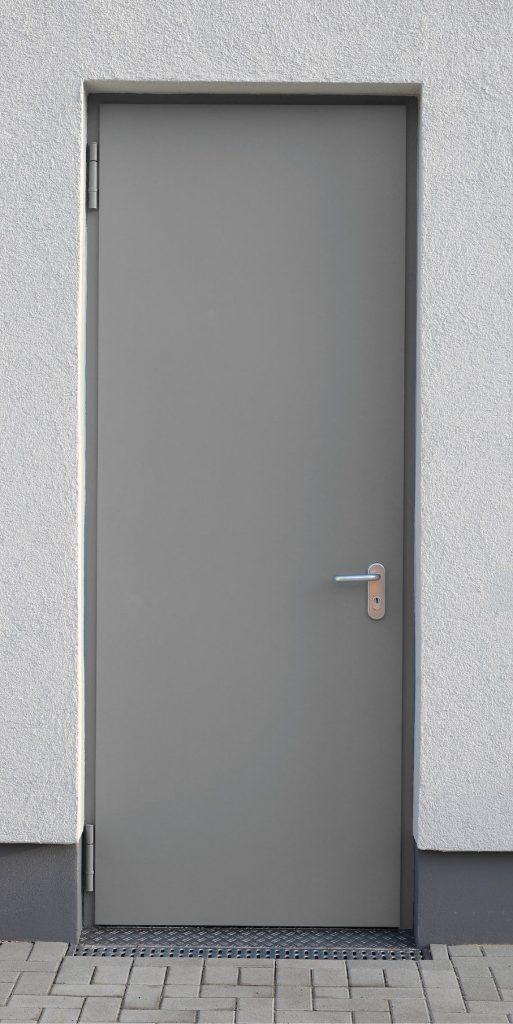 """Einflügelige einbruchhemmende Stahldrehtür Schwarze """"DW 72-1-Tür-RC2"""""""