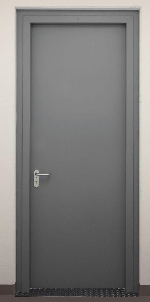 """Einflügelige einbruchhemmende Stahldrehtür Schwarze """"DX 52–1-Tür–RC2"""""""