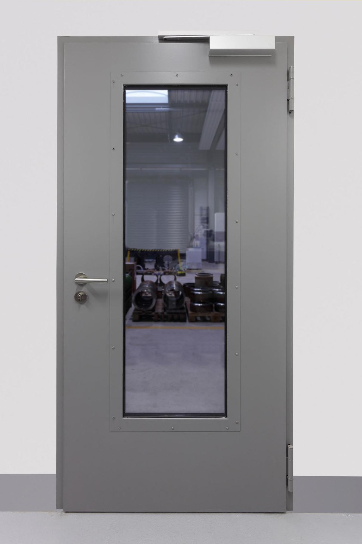 """Einflügelige schalldämmende Stahldrehtür D52-1-Tür """"Schwarze Phonstar"""""""